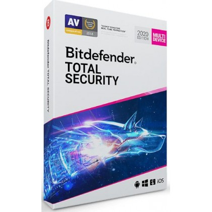Bitdefender Total Security 2021 AntiVirus 3 Device 1 Year
