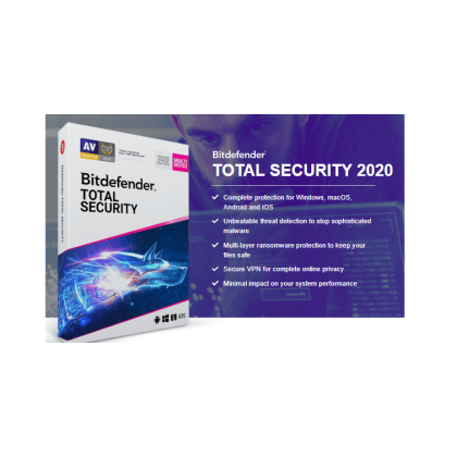 Bitdefender Total Security 2021 AntiVirus 5 Device 1 Year