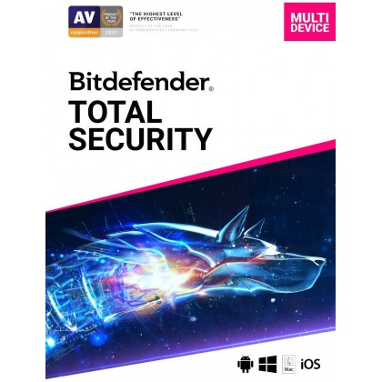 Bitdefender Total Security 2021 AntiVirus 5 Device 3 Year