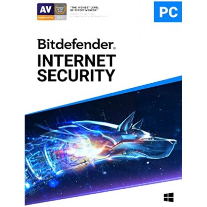 Bitdefender Internet Security 2021 AntiVirus 3 Device 3 Year